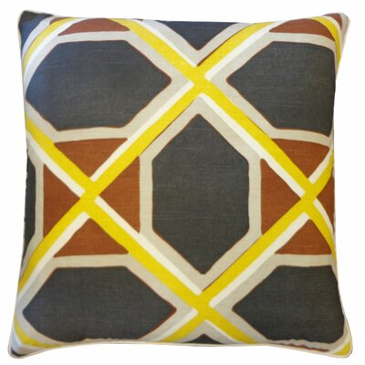 Pass Maroon Cotton Throw Pillow