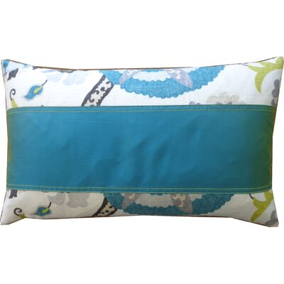 Amapola Cotton Lumbar Pillow Color: Blue
