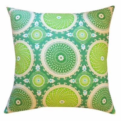 Coins Cotton Throw Pillow Color: Green