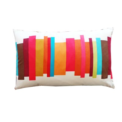 Brush 100% Cotton Lumbar Pillow Color: White