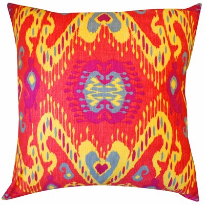 Coriander Cotton Throw Pillow Color: Blue