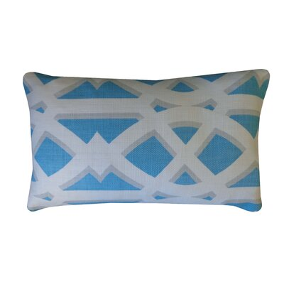 Crossroads Cotton Lumbar Pillow Color: Sky