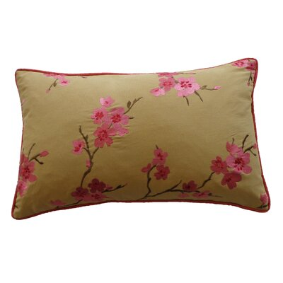China Cotton Lumbar Pillow Color: Pink