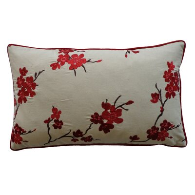 China Cotton Lumbar Pillow Color: Red