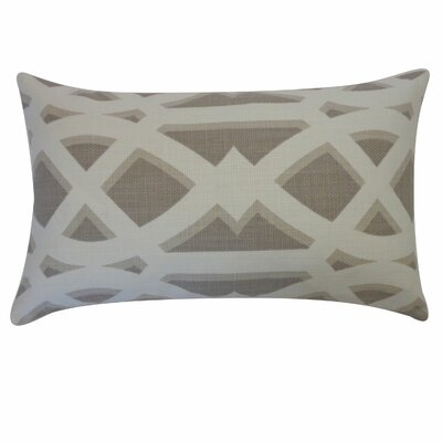 Crossroads Cotton Lumbar Pillow Color: Grey