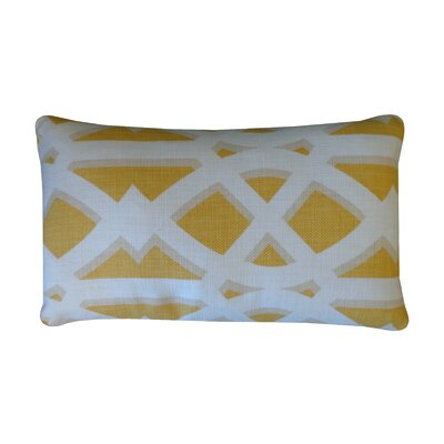 Crossroads Cotton Lumbar Pillow Color: Mustard