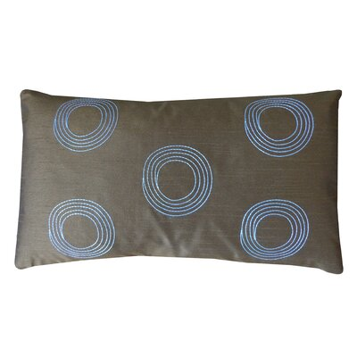 Center Silk Lumbar Pillow Color: Brown