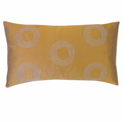 Center Silk Lumbar Pillow Color: Bronze