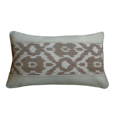 Diamond Cotton Lumbar Pillow Color: Tan Cream