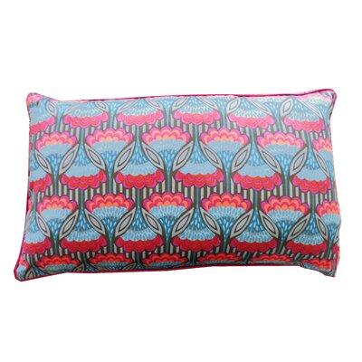Fan Cotton Lumbar Pillow Color: Teal