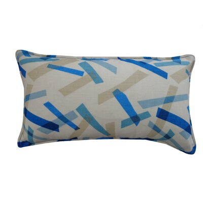 Pixel Cotton Lumbar Pillow Color: Blue