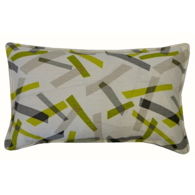Pixel Cotton Lumbar Pillow Color: Lime