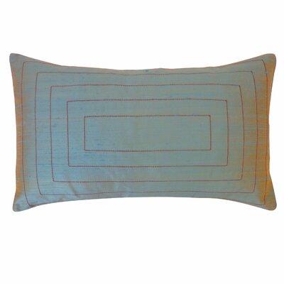 Pyramid Silk Lumbar Pillow Color: Aqua
