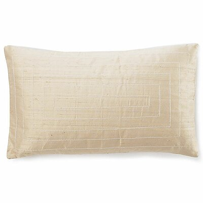 Pyramid Silk Lumbar Pillow Color: Beige