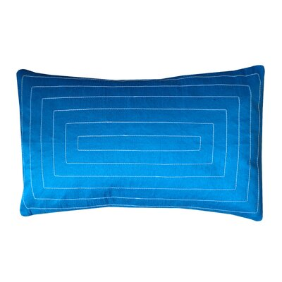 Pyramid Silk Lumbar Pillow Color: Turquoise