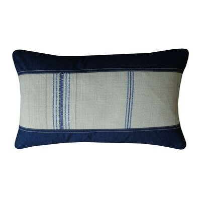 Rags Cotton Lumbar Pillow Color: Blue