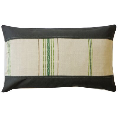 Rags Cotton Lumbar Pillow Color: Green