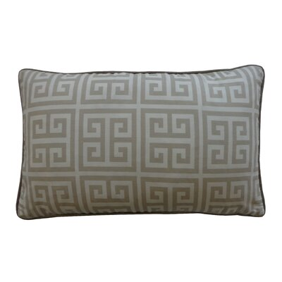 Riddle Cotton Lumbar Pillow Color: Grey