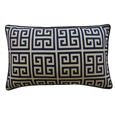 Riddle Cotton Lumbar Pillow Color: Navy