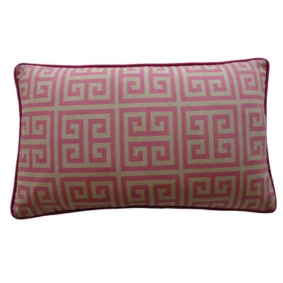 Riddle Cotton Lumbar Pillow Color: Pink