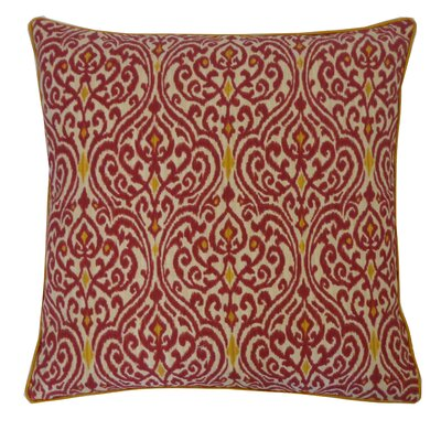 Geane Garnet Cotton Throw Pillow Color: Garnet