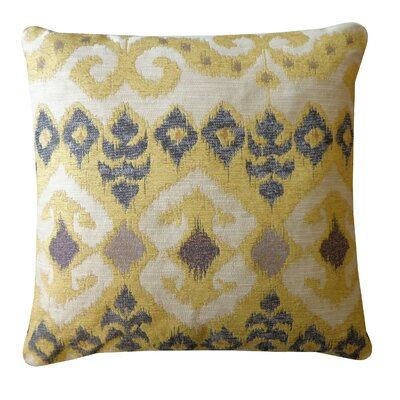 The Eye Cotton Throw Pillow Color: Yellow