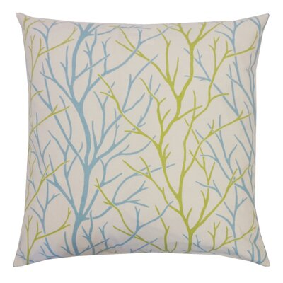 Tree Cotton Throw Pillow Color: Aqua