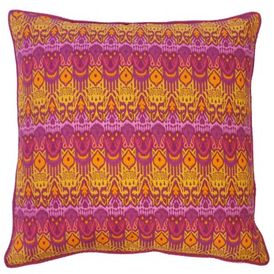 Seoux Cotton Throw Pillow Color: Fuchsia