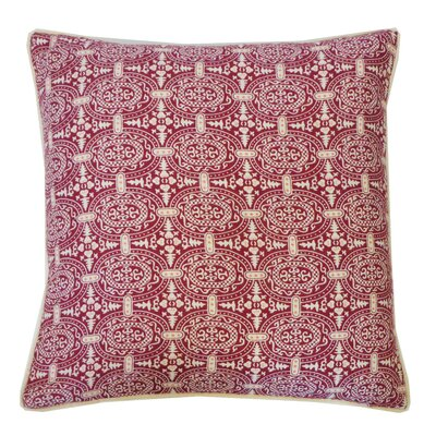 Stamp Cotton Throw Pillow