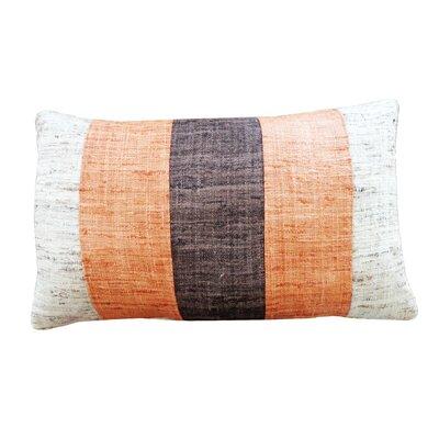 Matka Zebra Silk Lumbar Pillow