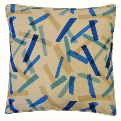 Pixel Cotton Throw Pillow Color: Blue