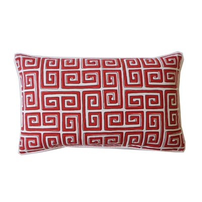 Coil Lumbar Pillow Color: Red