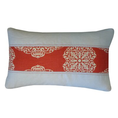 Medallion Cotton Lumbar Pillow Size: 12 H x 20 W, Color: Rust