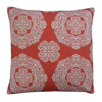 Medallion Cotton Throw Pillow Size: 26 H x 26 W, Color: Rust
