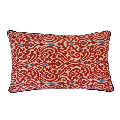 Geane Lumbar Pillow Color: Red