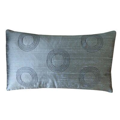 Center Silk Lumbar Pillow Color: Metallic
