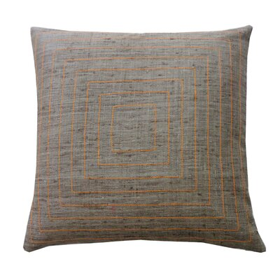 Pyramind Matka Silk Throw Pillow Color: Grey