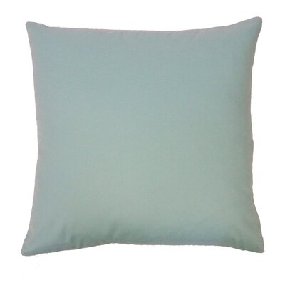 Solid Basic Cotton Throw Pillow Color: Aqua
