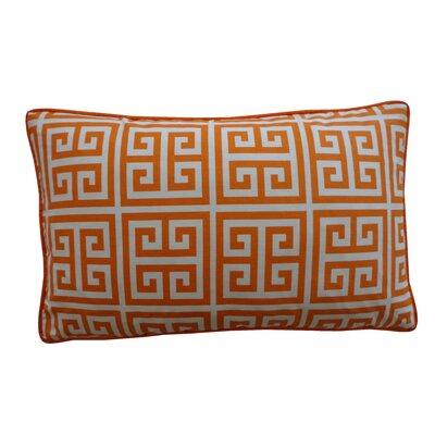 Riddle Cotton Lumbar Pillow Color: Orange
