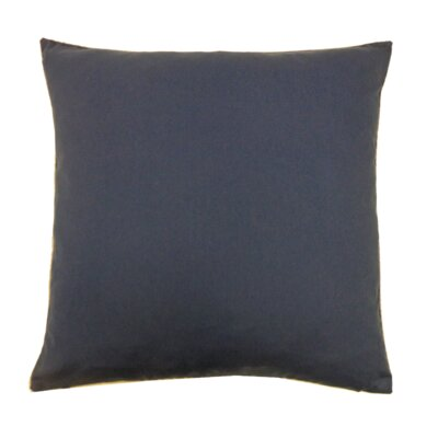 Solid Basic Cotton Throw Pillow Color: Navy
