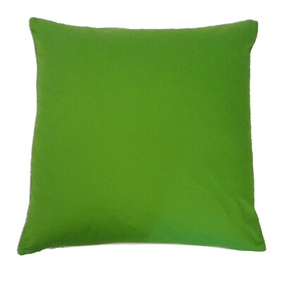 Solid Basic Cotton Throw Pillow Color: Green