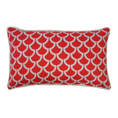Sotas Cotton Lumbar Pillow Color: Coral