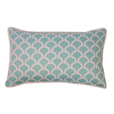 Sotas Cotton Lumbar Pillow Color: Aqua