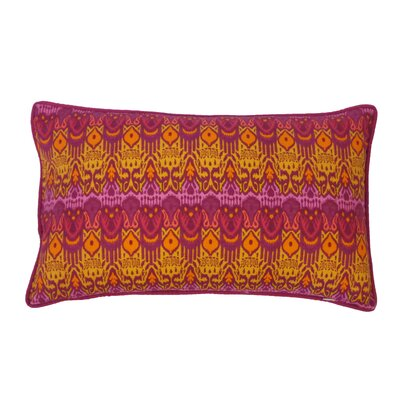Seoux Cotton Lumbar Pillow Color: Fuchsia