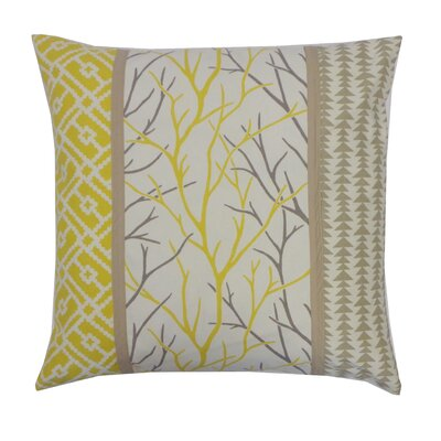 Tree Cotton Throw Pillow Color: Yellow