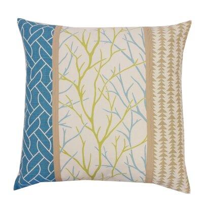 Tree Cotton Throw Pillow Color: Aqua