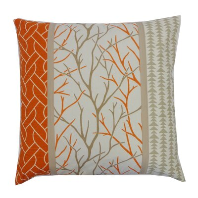 Tree Cotton Throw Pillow Color: Orange