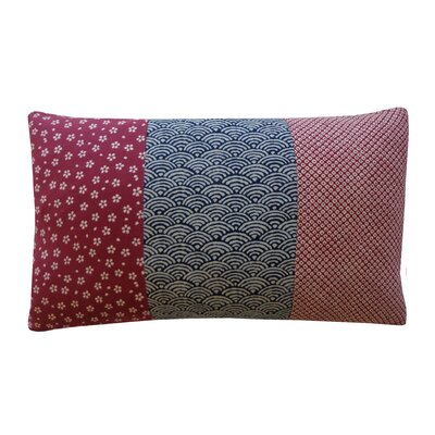 Kioto Fan Diamond Eye Cotton Lumbar Pillow