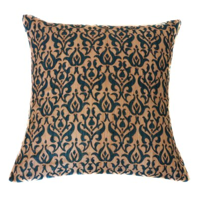 Tussar Hand Block Printed Linen Throw Pillow