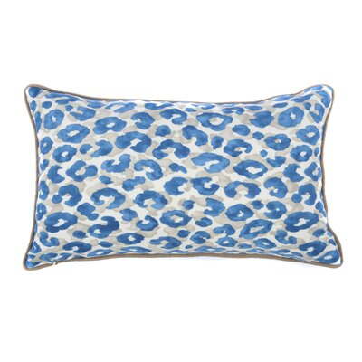 Cheetah Outdoor Lumbar Pillow Color: Blue